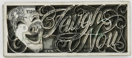 Laser Cut Dollar Bill Art by Scott Campbell