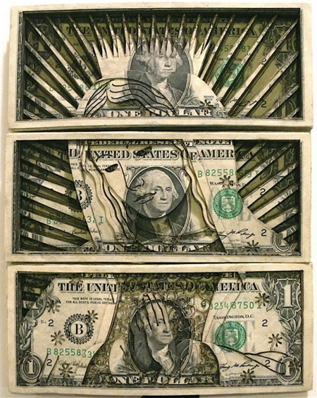 Laser Cut Money Art by Scott Campbell