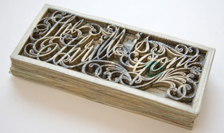 Laser Etched Money Art by Scott Campbell