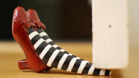 Wizard Of Oz Ruby Slippers Doorstop
