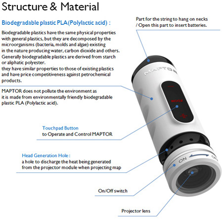Maptor Portable Map Projector Concept