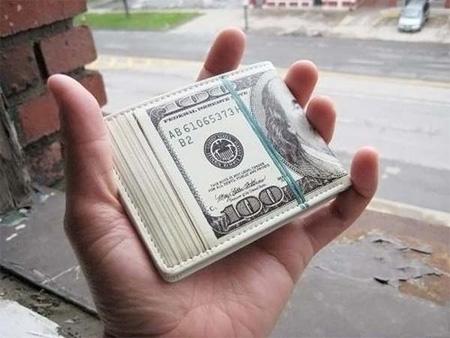 Loaded Hundred Dollar Bill Wallet