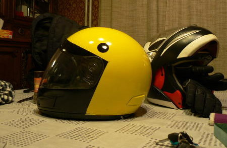 Pac Man Motorcycle Helmet