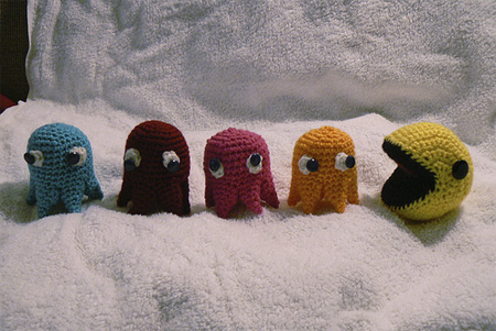 Crocheted Pac Man