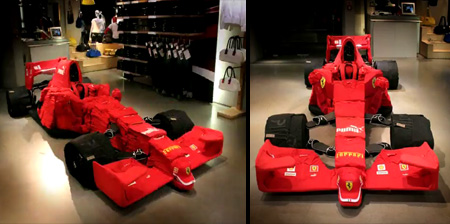 Ferrari F1 Car Made Out of Clothes