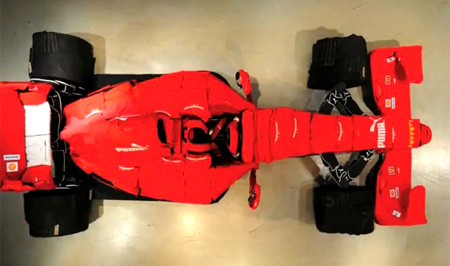 Ferrari Made Out of Clothes