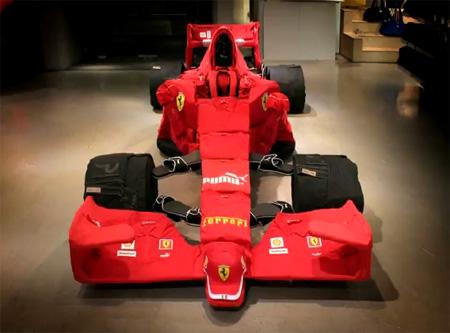 Ferrari Made Out of PUMA Clothes