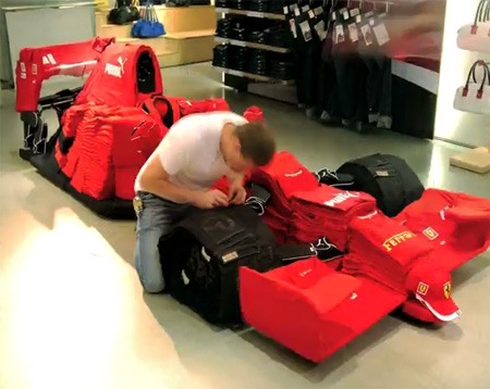PUMA Builds Ferrari Car Out of Clothes