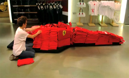 Ferrari Formula One Car Made Out of Clothes