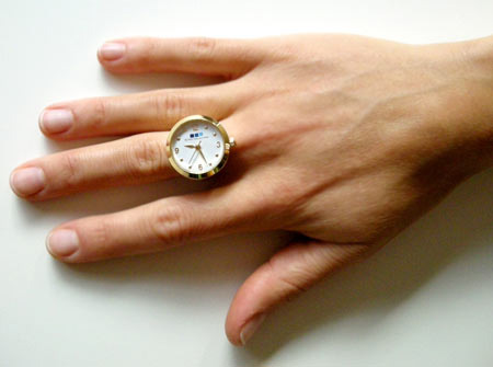 Gold Ring Watch