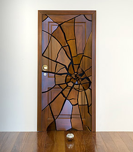 Shattering Door Sculpture