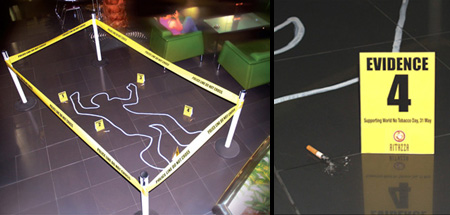 Smoking Crime Scene
