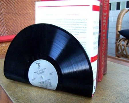 Old Vinyl Records Bookends