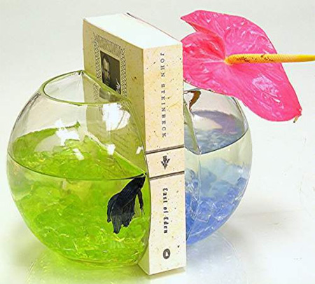 Fish Bowl Bookends