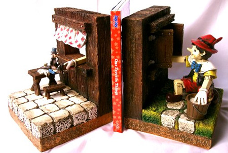 Pinocchio Bookends