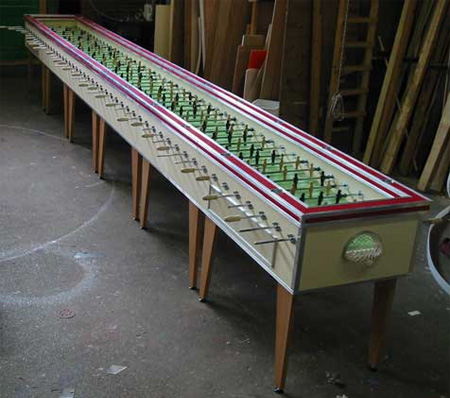 Worlds Longest Foosball Table