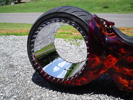 Hubless Motorcycle Wheel
