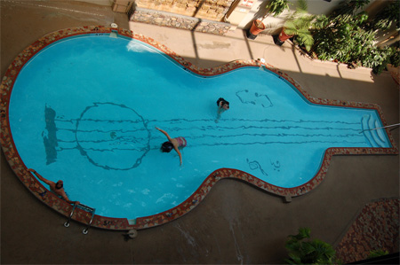 Guitar Shaped Pool