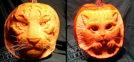 3D Pumpkin Carvings by Scott Cummins