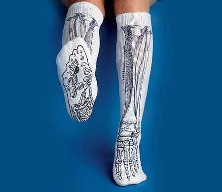 Anatomically Correct Bone Socks