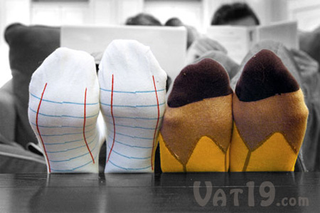 Notebook and Pencil Socks