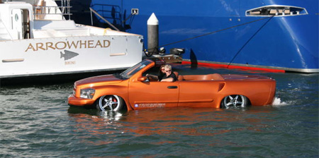 Custom Car Drives on Water
