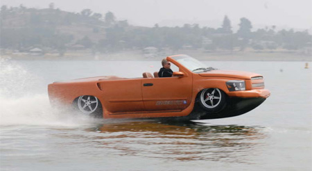 Car Drives on Water