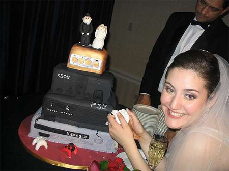 Gamers Wedding Cake
