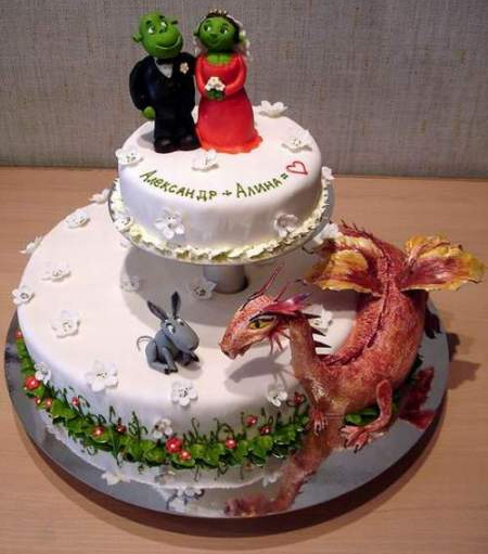 Shrek Wedding Cake