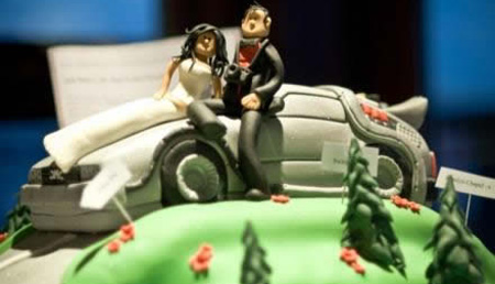 DeLorean Wedding Cake