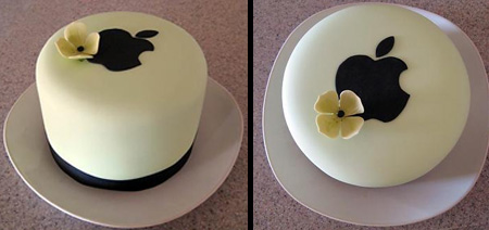 Apple Logo Wedding Cake