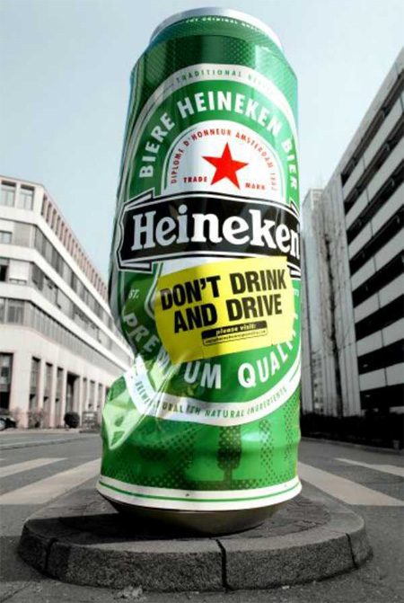 Heineken Column Advertisement