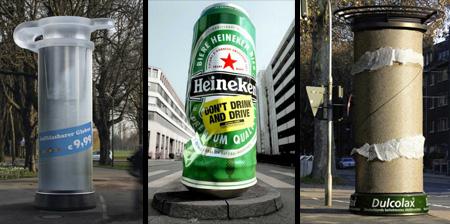 Creative Advertising on Columns
