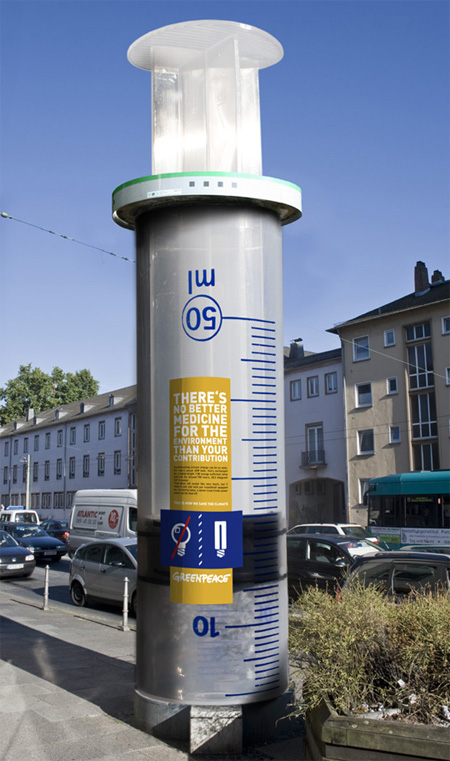 Greenpeace Column Advertisement