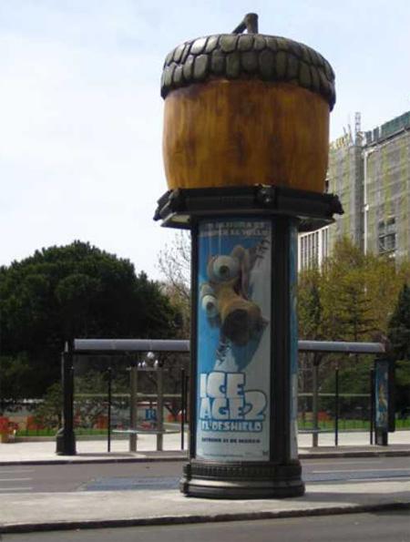 Ice Age Column Advertisement
