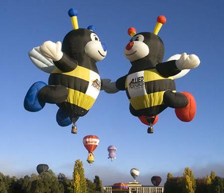 Bees Hot Air Balloons