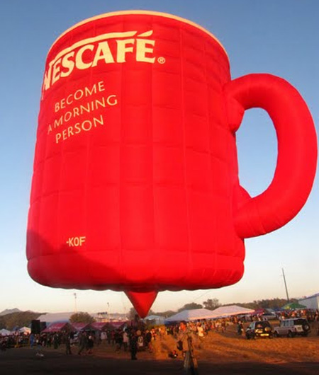 Nescafe Mug Hot Air Balloon