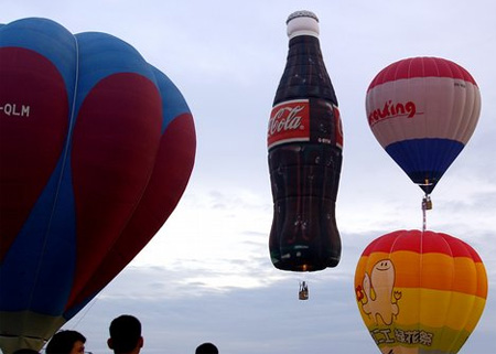 Coca-Cola Bottle Hot Air Balloon
