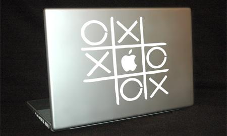 Tic Tac Toe MacBook Sticker