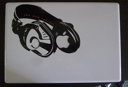Headphones MacBook Sticker