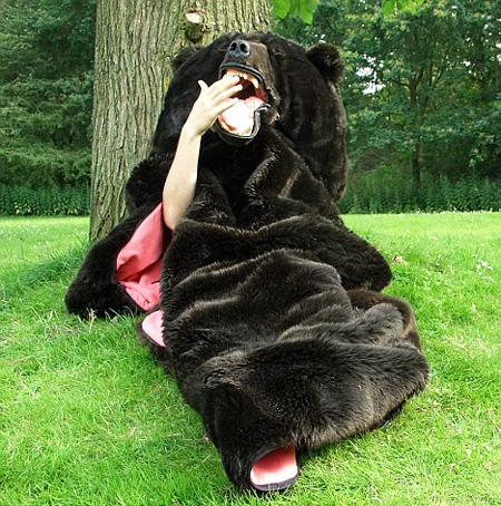 Cool Bear Shaped Sleeping Bag