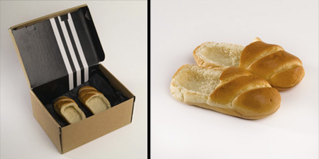 Edible Shoes Made of Bread