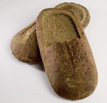 Slip On Shoes Made Out of Bread