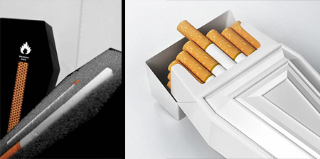 Coffin Shaped Cigarette Packaging