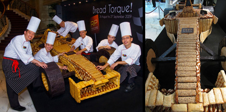 Formula 1 Car made out of Bread