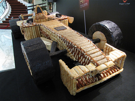 F1 Car made out of Bread