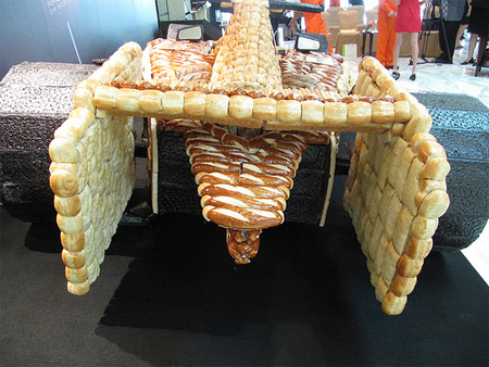 Formula 1 Race Car made out of Bread