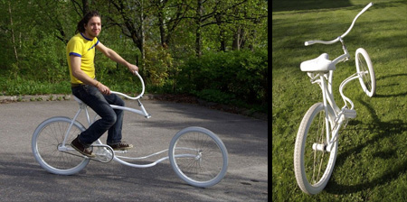 Unique Forkless Bicycle Design