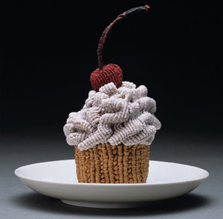 Knitted Mini Cupcake