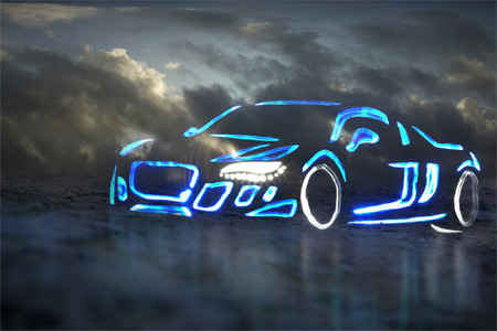 Audi R8 Light Graffiti